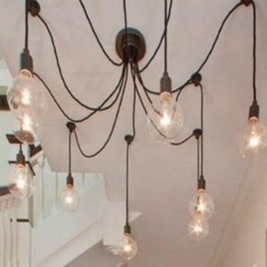 Hangout Lighting Accents - 5 Pendant Swag Chandelier